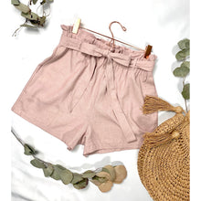 Load image into Gallery viewer, Mauve Bow Linen Shorts