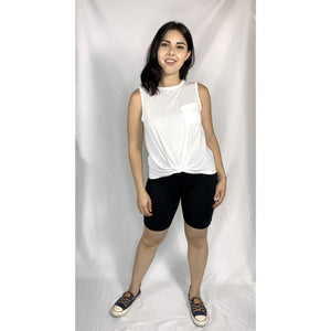 Front Knot Pocket Tank