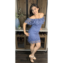 Load image into Gallery viewer, Autumn Sky Lace Dress