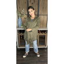 Load image into Gallery viewer, Olive Fringe Cardigan