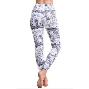 Marble Ankle length Active Pants
