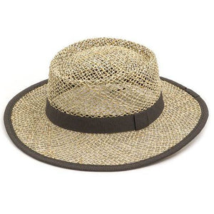 Summer chic straw pork pie hat