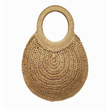 Load image into Gallery viewer, Round Natural Rattan Tassel Bag