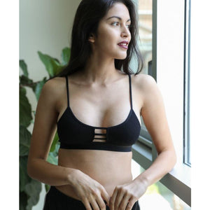 Ribbed cutout bralette