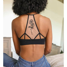 Load image into Gallery viewer, Racerback Ribbed Flower Bralette