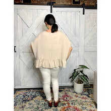 Load image into Gallery viewer, Boho Flow ruffle hem Blouse