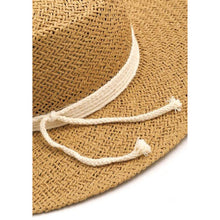 Load image into Gallery viewer, Rope ribbon straw hat
