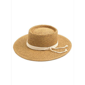 Rope ribbon straw hat