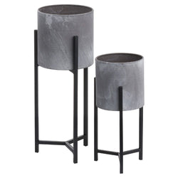 Vaso Frame - Set Of Two Cylindrical Table Top Planters