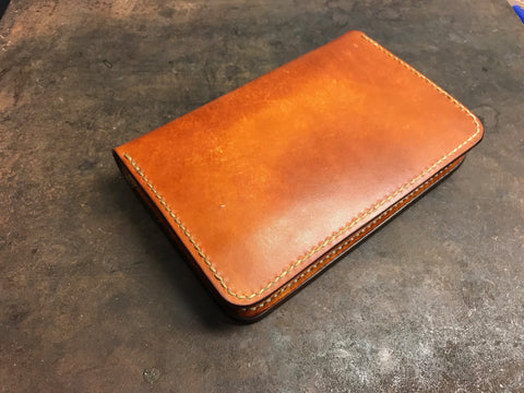 Leather field notes notebook cover hand made by Marty Flint