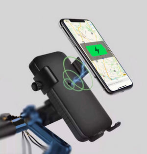 Wireless Smart Phone Charger Power Bank With Phone Mount