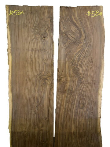 Oregon Black Walnut Slab #58 A & B