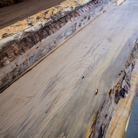 Live-Edge Salvaged Blue Pine