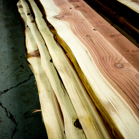 Live-Edge Salvaged Sequoia