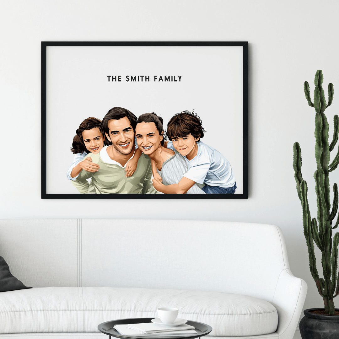 Custom Illustrated Family Portrait