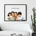 Load image into Gallery viewer, Custom Illustrated Family Portrait