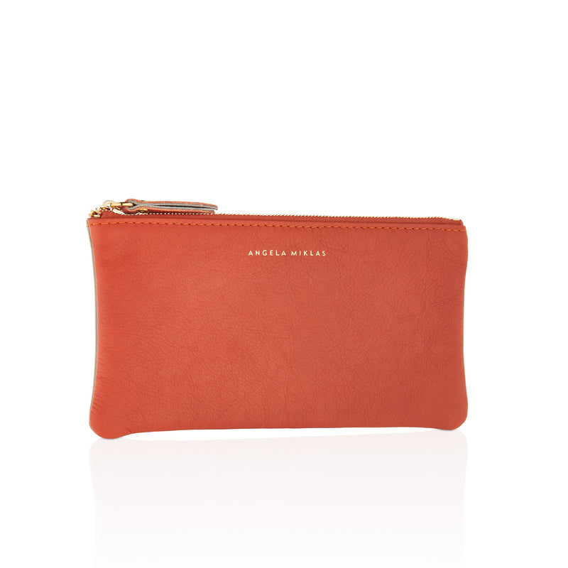 The Pouch Orange Taupe