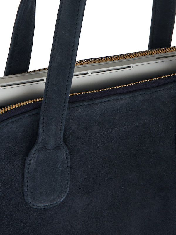 The Lady Tote Blue Nubuck
