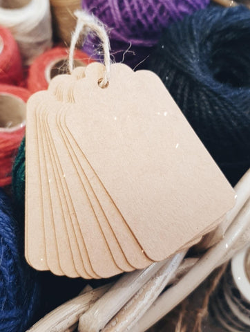 Biodegradable Recycled Gift Tags x 10