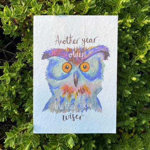 Plantable Wildflower Cards: Another Year Wiser