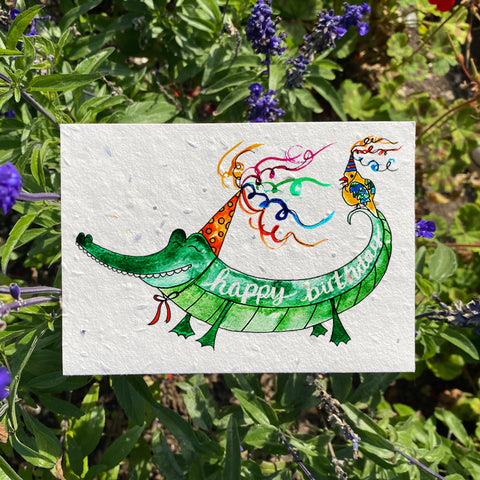 Plantable Wildflower Cards: Happy Birthday Alligator