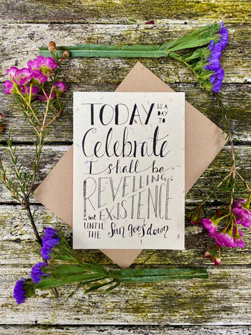 Plantable Wildflower Cards: Birthday Celebration