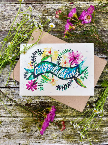 Plantable Wildflower Cards: Congratulations