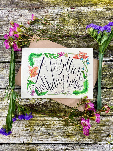 Plantable Wildflower Cards: Bizillion Birthday Wishes