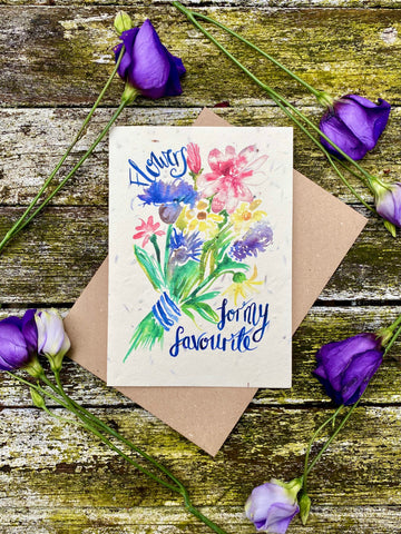 Plantable Wildflower Cards: Flowers for my Favourite