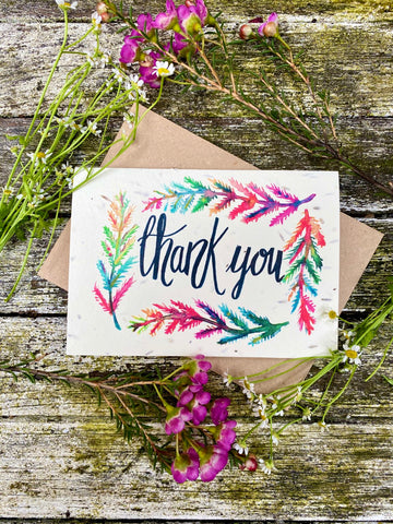 Plantable Wildflower Cards: Thank You