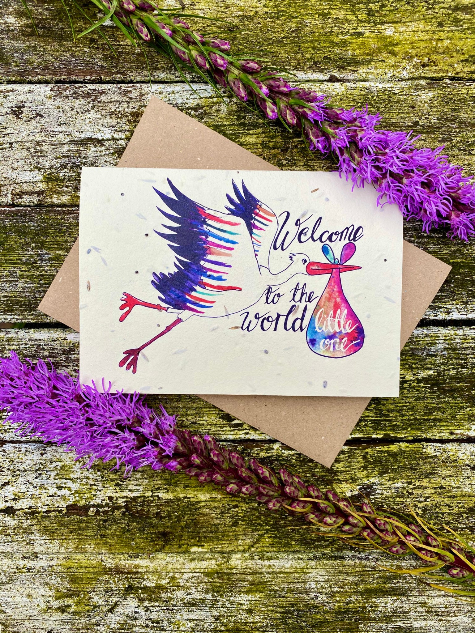 Plantable Wildflower Cards: Welcome to the World Little One