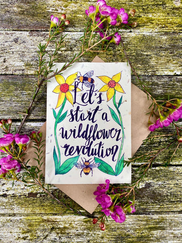 Plantable Wildflower Cards: Let's Start a Wildflower Revolution