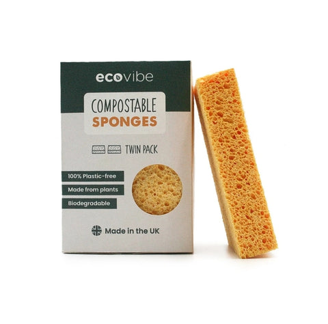 Compostable Biodegradable Eco Cleaning Sponges- Pack of 2