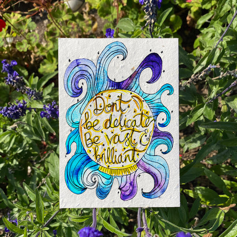 Plantable Wildflower Cards: Be Vast and Brilliant