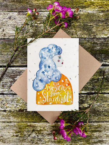 Plantable Wildflower Cards: Woven by Stardust