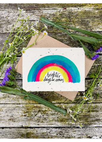 Plantable Wildflower Cards: Brighter Days are Coming