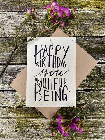 Plantable Wildflower Cards: Happy Birthday Beautiful Being