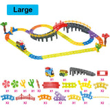 Classic Electric Train For Children DIY Track