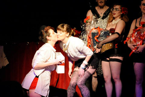 Sex Siopa giving sex toys prize at Ireland's Rocky Horror Picture Show