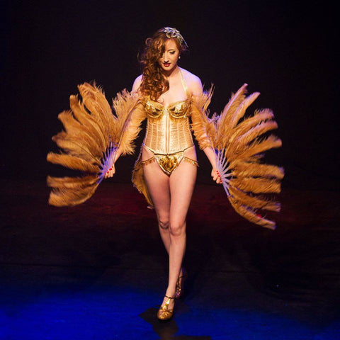 Miss Burlesque Ireland 2015 competition with performer Fifi LaRoux