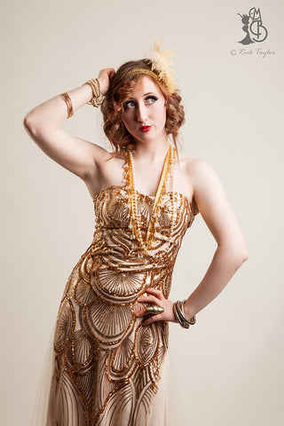 Fifi LaRoux vintage burlesque photoshoot