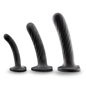 Blush Temptasia Twist Set of Silicone Dildos perfect for use with a strap-on harness. - Sex Siopa, Ireland's Best Sex Toy Shop!