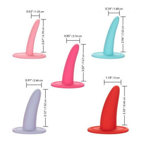 Size chart for the Calexotics Sheology silicone dilator set - Sex Siopa Ireland