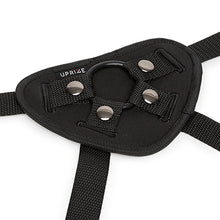 Load image into Gallery viewer, The Uprize adjustable strapon harness comes with a soft padded neoprene base and silicone o-ring. Sex Siopa, Ireland's best Sex Toy Shop
