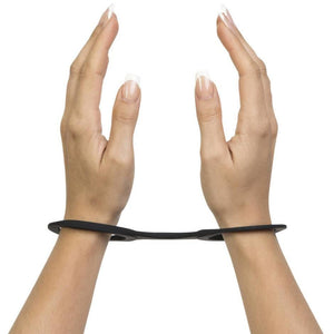 Model wearing Quickie Cuffs silicone BDSM restraints - Sex Siopa, Ireland's Best Sex Toys