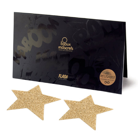 Gold star glitter reusable nipple stickers - Sex Siopa, Ireland's Best Sex Toy Shop