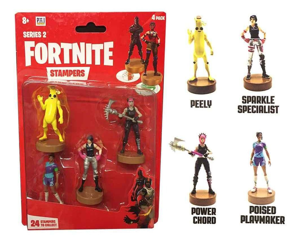 Fortnite Stampers (Sellos) de Personajes Peely, Sparkle Specialist, Power Chord y Poised Playmaker