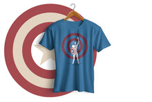 Load image into Gallery viewer, Captain America - Half Sleeve T-Shirt(Blue)