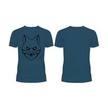 Load image into Gallery viewer, LONE Wolf Outline - Half Sleeve T-Shirt