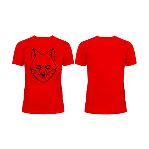 LONE Wolf Outline - Half Sleeve T-Shirt